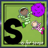 S is for Space Themed Preschool Lesson Plans (one week curriculum)