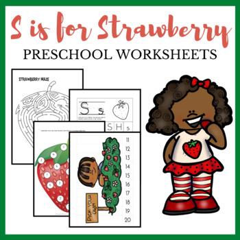 S is for Strawberry Preschool Theme