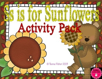 Letter of the Week - S is for Sunflowers Preschool Kindergarten Alphabet Pack