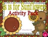 Letter of the Week - S is for Sunflowers Preschool Kindergarten Alphabet Pack