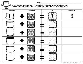 S'more Build 2 Addend Number Sentences 0-20