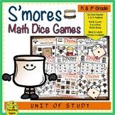 S'more Math Center Dice Games