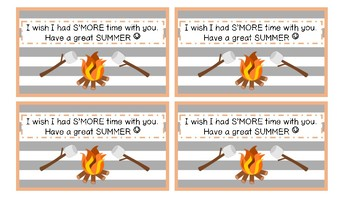 S'more Time End of The Year Gift Tag