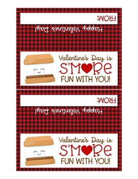 S'more Treat Bag Topper, Buffalo Plaid, Marshmallow Student Exchange Gift Ideas