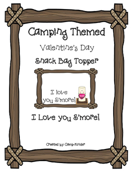 "S'more Valentine's Day Bag Topper - ""I love you S'more!"""