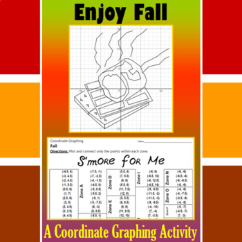 S'more for Me - A Fall Coordinate Graphing Activity