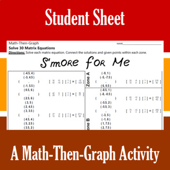 S'more for Me - A Math-Then-Graph Activity - Solve Matrix Equations