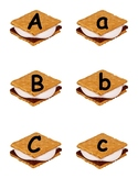 S'mores Alphabet Letters - Camping Theme