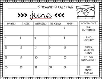 S'mores Behavior Chart and Calendars BUNDLE