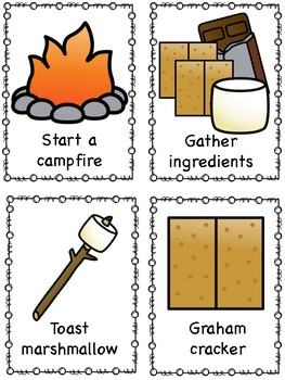 S'mores Camping Sequencing Activity