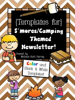 S'mores Camping Themed Newsletter Template