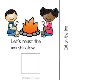 S'mores Interactive Book for Preschool, Pre-K and Special Needs