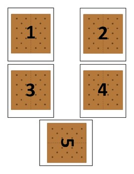 S'mores Math Game - Camping Theme