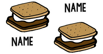 S'mores Name Tags! (EDITABLE) Camping Themed!