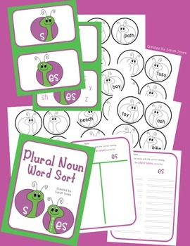 Plural Noun Sort {S or ES}