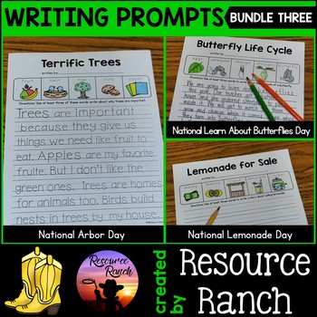 Spring Writing Prompts Worksheet Bundle