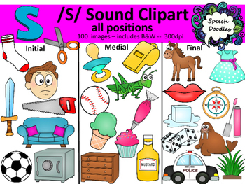 S sound clipart - 100 images! Personal and Commercial use. Articulation clipart