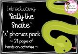 S sound phonics pack