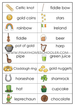 St. Patrick's Day Spelling Words Practice