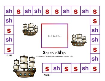 S versus SH Sound Discrimination: Minilesson, Sound Sort, and Game
