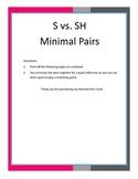S vs. SH Minimal Pair Cards