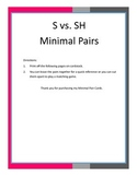 S vs. SH Minimal Pair Cards