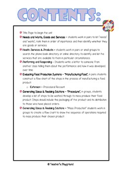 S2 - 'Products, Services & Systems' COGs Workbook