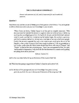 S3 THE CATILINARIAN CONSPIRACY