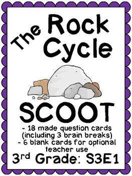 S3E1: 3rd Grade Science - Rock Cycle Scoot (with answer key)