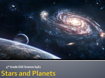 S4E1 Planets and Stars GSE 2018 Unit *Perfect for GoogleClassroom