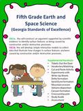 S5E1a. b. 5th Grade Georgia Earth Science Experiments, Wri