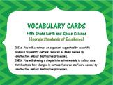 S5E1a. b. 5th Grade Georgia Earth Science Vocabulary Word
