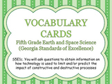 S5E1c. Vocabulary Word Wall Cards