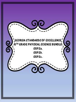 S5P2 5th Grade Georgia Physical Science Bundle