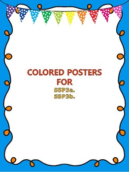 S5P3a. b. 5th Grade Physical Science Colored Posters