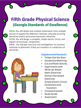S5P2a. b. c. 5th Grade Georgia Physical Science Research, Write-Ups, & Assessme