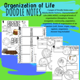 S7L2/ S7L4 Organization of Living Things Doodle Notes and Answers