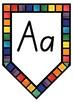 SA BEGINNERS  watercolor simple ALPHABET POSTERS PENNANTS