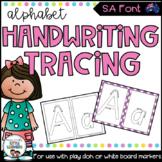 SA Font Alphabet Handwriting Tracing Sheets