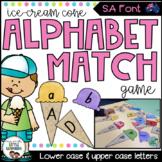 SA Font Alphabet Match Game (Ice Cream Cones)