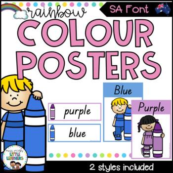 SA Font Colour Posters {Rainbow Theme}