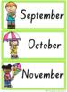 SA Font Months & Days Labels {Rainbow Theme}