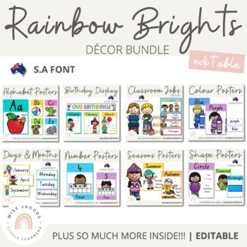 SA Font Rainbow Classroom Decor Bundle