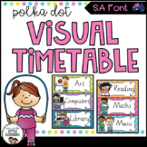 SA Font Visual Daily Timetable {Polka Dot}