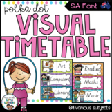 SA Font Visual Timetable {Rainbow Theme}