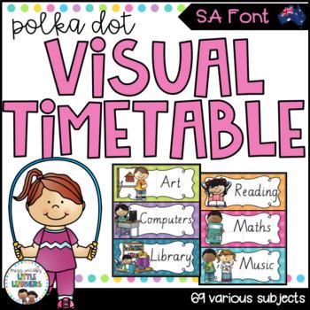 SA Font Visual Timetable {Rainbow Theme}