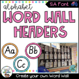 SA Font Word Wall Alphabet Headers {Polka Dot}