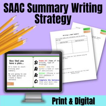 SAAC Summary Writing Strategy