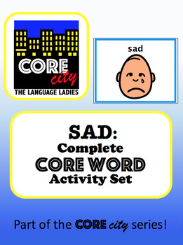 SAD: Complete Core Word Activity Set