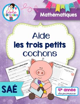 SAÉ maths- Aide les trois petits cochons